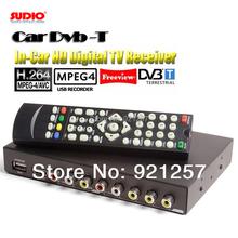 250KM/H Car DVB-T MPEG4/H.264 TV tuner 2PVR USB Record TDT TNT HDMI car tv box TV receiver digital tv box wireless(China (Mainland))