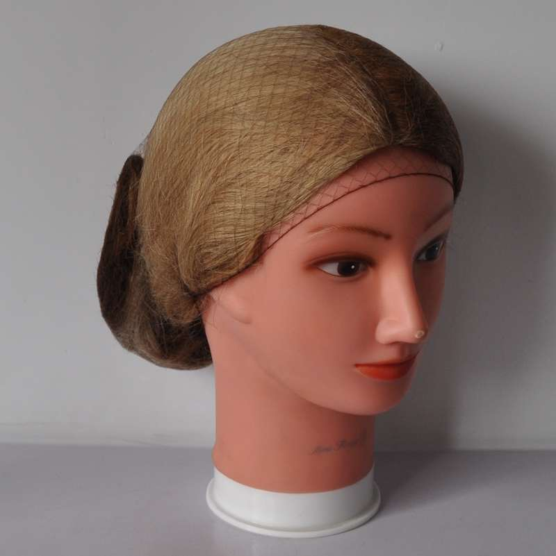 how to put on a hair net