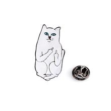 Dito medio gatto Divertente Gatto dello smalto perni smalto Duro perni del risvolto Distintivi e Simboli Spille Gatto pins Zaino Cappelli Accessori(China)