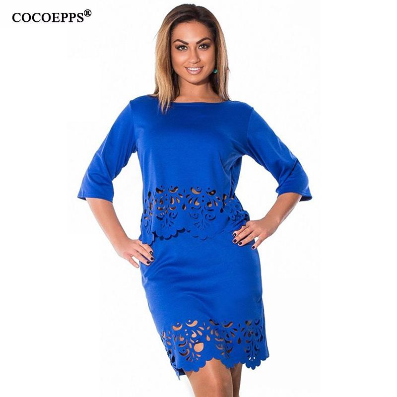 Women Plus Size dress summer o-neck short sleeve dress Elegant Sexy bodycon Dress hollow women clothing L-6xl Free