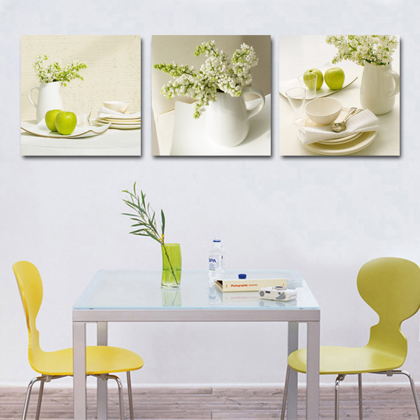 3 Pcs Fruit Kitchen Pictures Abstract Beautiful Oil