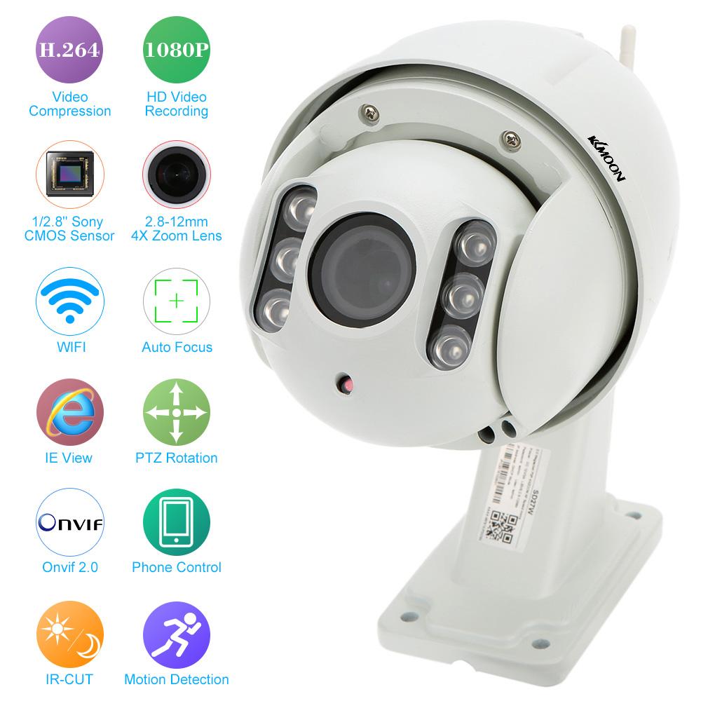 KKMOON HD 1080P Wireless WiFi IP Camera Outdoor 2.8-12mm Auto-focus Metal PTZ Waterproof CCTV Security Camera IR Night Vision(China (Mainland))