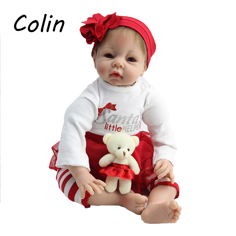 22 Inch 50 cm Doll Reborn Realistic Silicone Baby Doll For Kids Play House Toys AD108(China (Mainland))