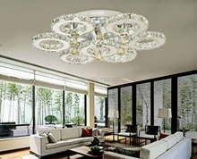 Modern Big k9 crystal chandelier Lights crystal ceiling mounted bedroom living room stainless steel led lights luminaria lustres(China (Mainland))