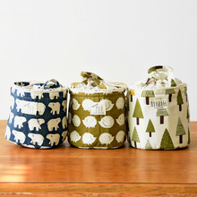 New Printing Cotton Beam Port Portable Cooler Bag Lunch Bags Sweet Tote Bags Picnic Bag Organizer