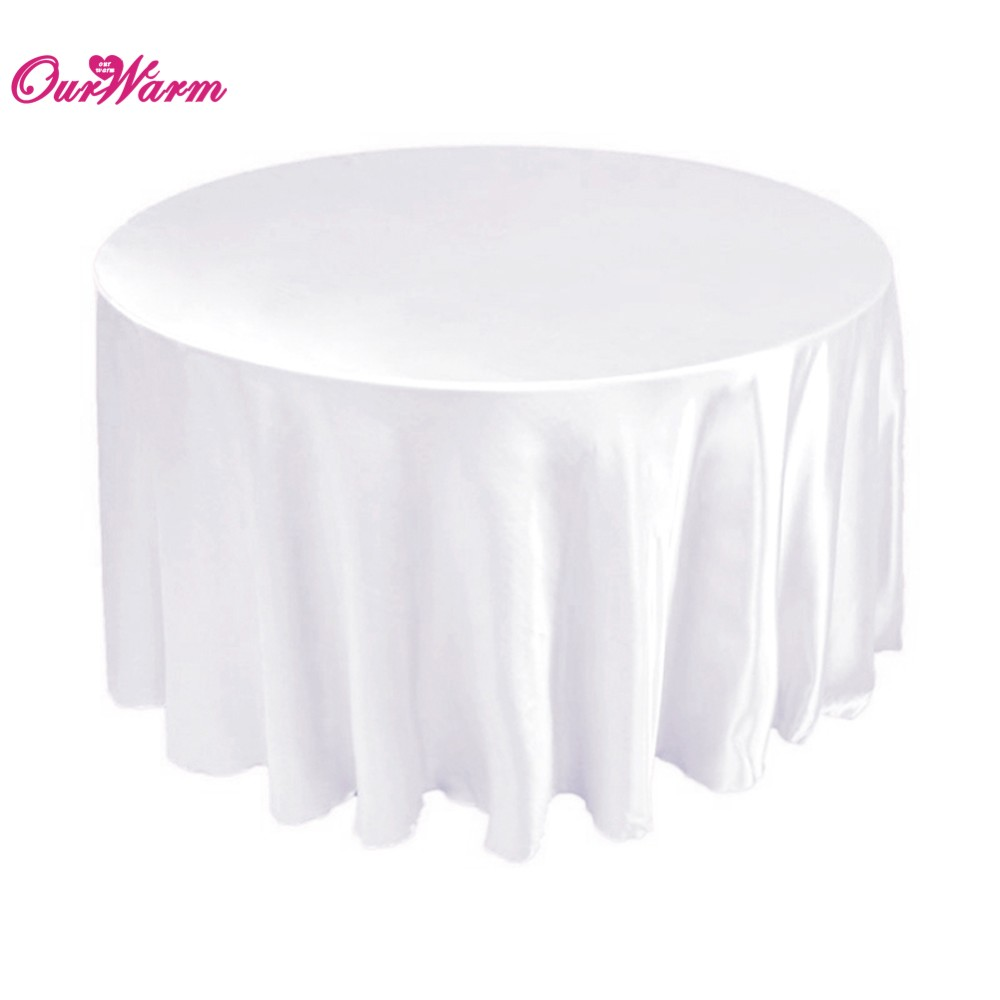 """10pcs 108"""" Polyester Tablecloth Round Party Table Covers Satin Fabric Table Cloth Wedding Table Decoration Banquet Tablecloths(China (Mainland))"""