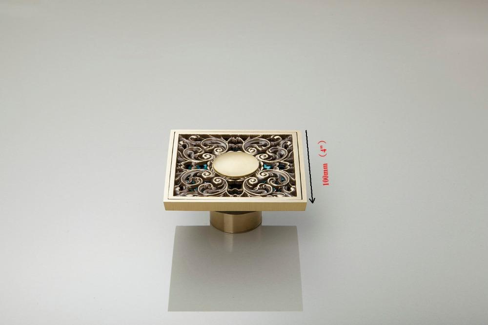 e-pak Hello Modern New 4'Brass Water Drain Kitchen/Bathroom Floor Drain 5401/4 Dreno Assoalho Antique Brass Floor Drain(China (Mainland))