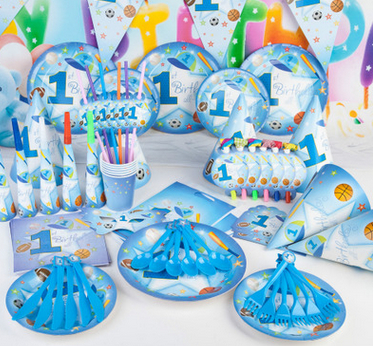 30sets/lot 84pcs kids birthday party decoration, boy sport event party supplies favor items for children party supplies(China (Mainland))