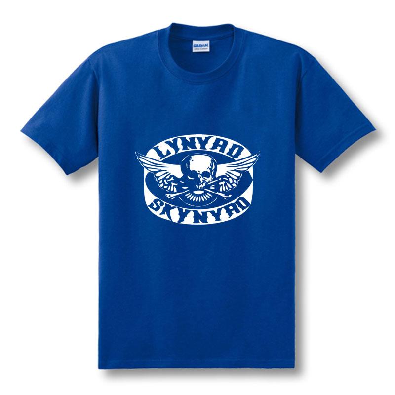 Free shipping new man custom t shirts lynyrd skynyrd rock for Custom t shirts international shipping