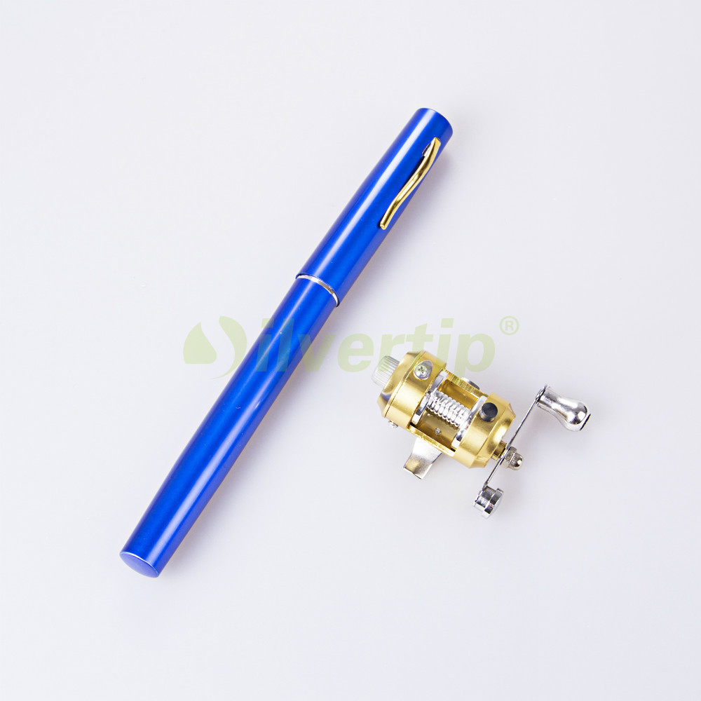 Free shipping mini portable pocket pen fish fishing rod for Mini pen fishing rod