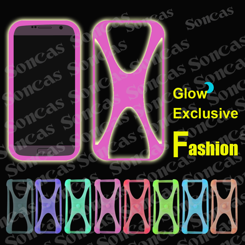 Newest Fashion Silicon Soft Exclusive Universal Bumper Glow Cool Phone Case For Nokia X X+ + Free Gift(China (Mainland))