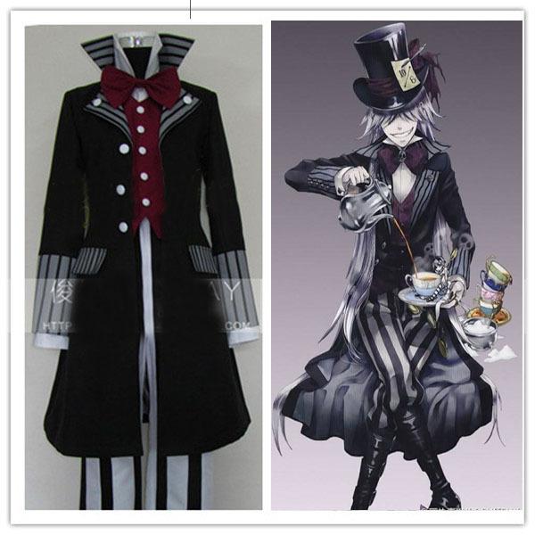 Black Butler Undertaker death suit Cosplay Costume for men anime disfraces vestidos 5 in1 coat+ waistcoat+ shirt+ pants+ tieОдежда и ак�е��уары<br><br><br>Aliexpress