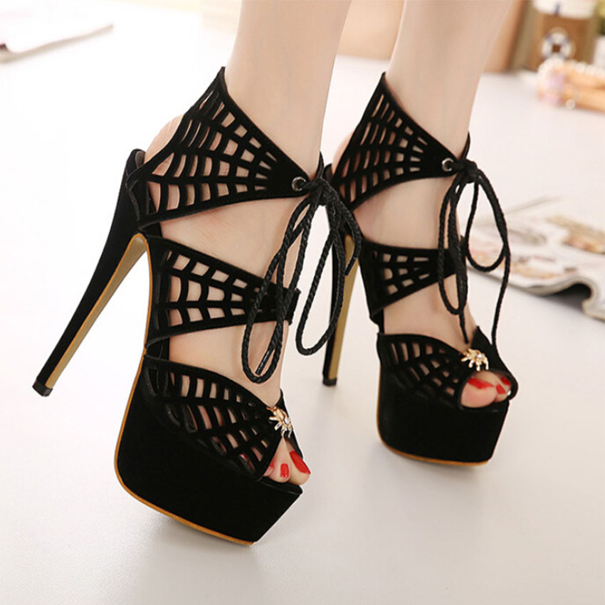 2015 Hot Sales SIZE 35-40 Fashion Summer sandals new beautiful 15CM ultra high-heels  sexy women sandals shoes<br><br>Aliexpress