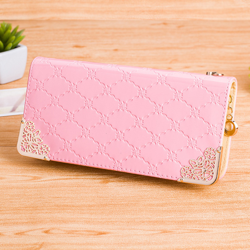 2016 Fashion Women Wallet Zipper PU Leather Female Long Brand Clutch Purse Dollar Price Red Phone Package Carteras Mujer(China (Mainland))