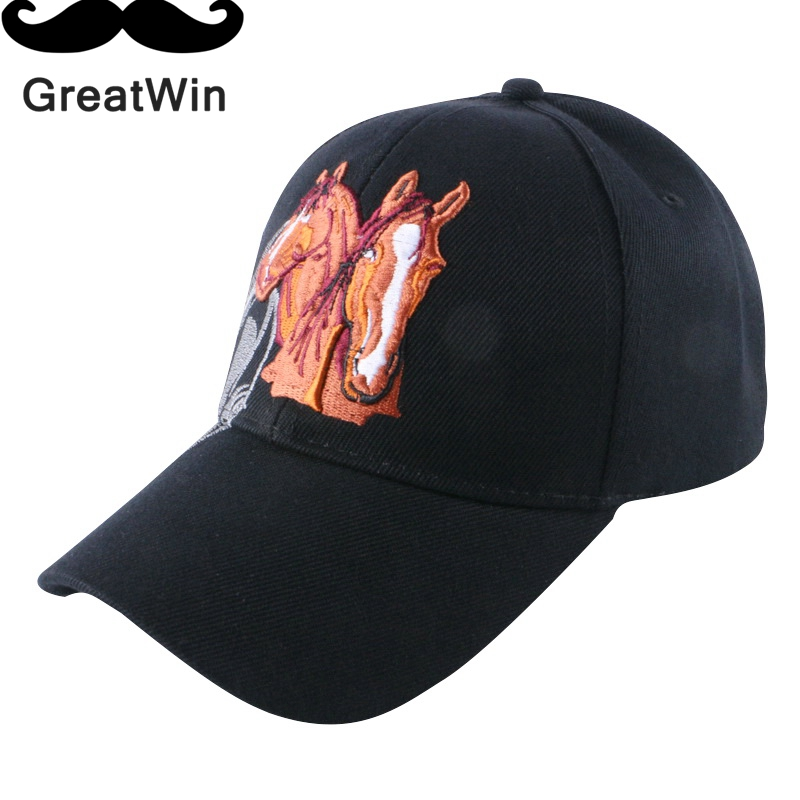 usa trendy design novelty women mens brand baseball cap embroidery polyester horse style boy girl hip hop snapback sports gorras(China (Mainland))
