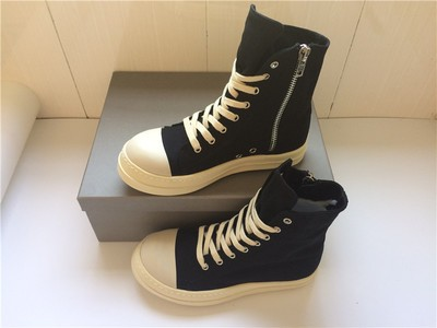 Man RO 20mm Leather High Top Owen Shoes Geo Basket hi-top Shoes Black Cracked Geobasket High-Top Owen Shoes 100% Real Photos