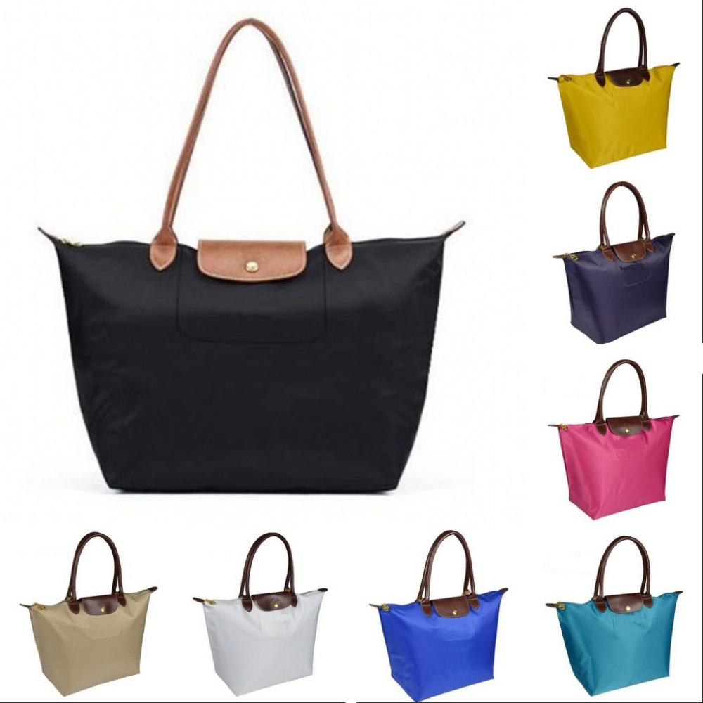 2015 New Arrived All Colors Tote Bags Long Folding Packsack Package S/M/L/XL Women's Bags Champagne HandBags(China (Mainland))