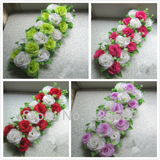 Artificial decorative rose road flowers wedding props for Artificial flower for wedding decoration
