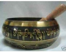 Exquisite chinese tibet copper mantra singing bowl free shipping