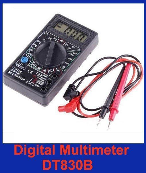 Ammeter Voltmeter Ohm Test Meter Professional Electric Digital Multimeter DT830B without retail box free shipping