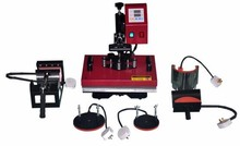 DHL 6 in 1 T Shirt, Mugs, Hat, Plates Sublimation Transfer Heat Press Machine