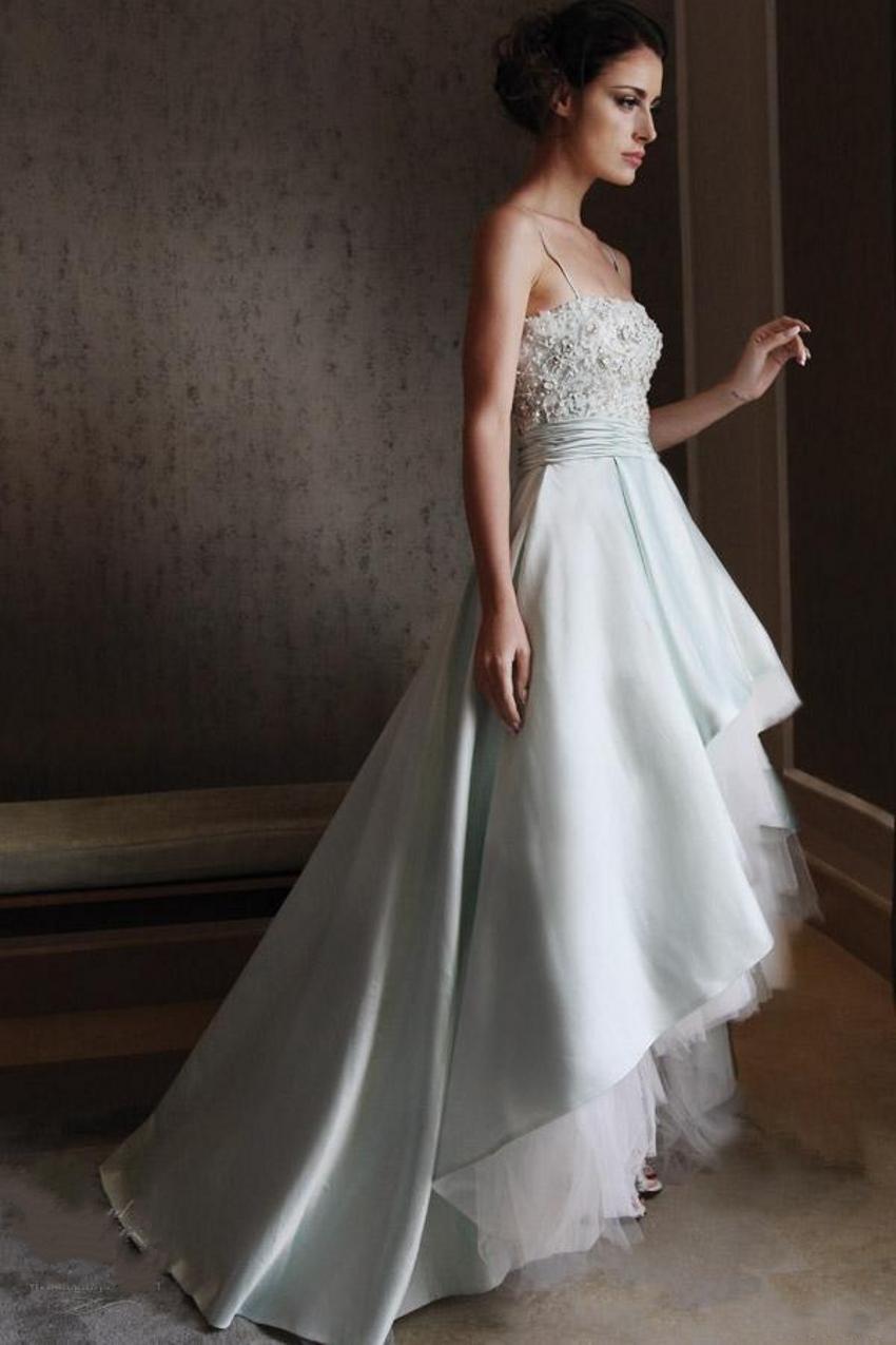 Hot Sale Luxury Pearls A Line Beading Wedding Dresses