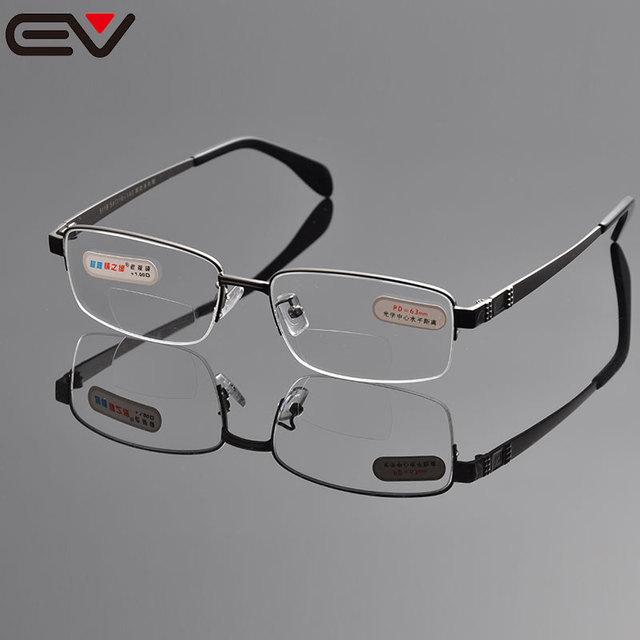 Очки для чтения мужчины бифокальные очки для чтения для осмотра полуободковые очки ...