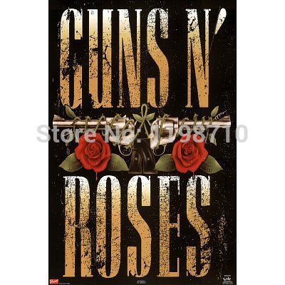 "Guns N 'Roses 80 guns logo music art poster print 20X30 ""Canvas Print Free Shipping(China (Mainland))"