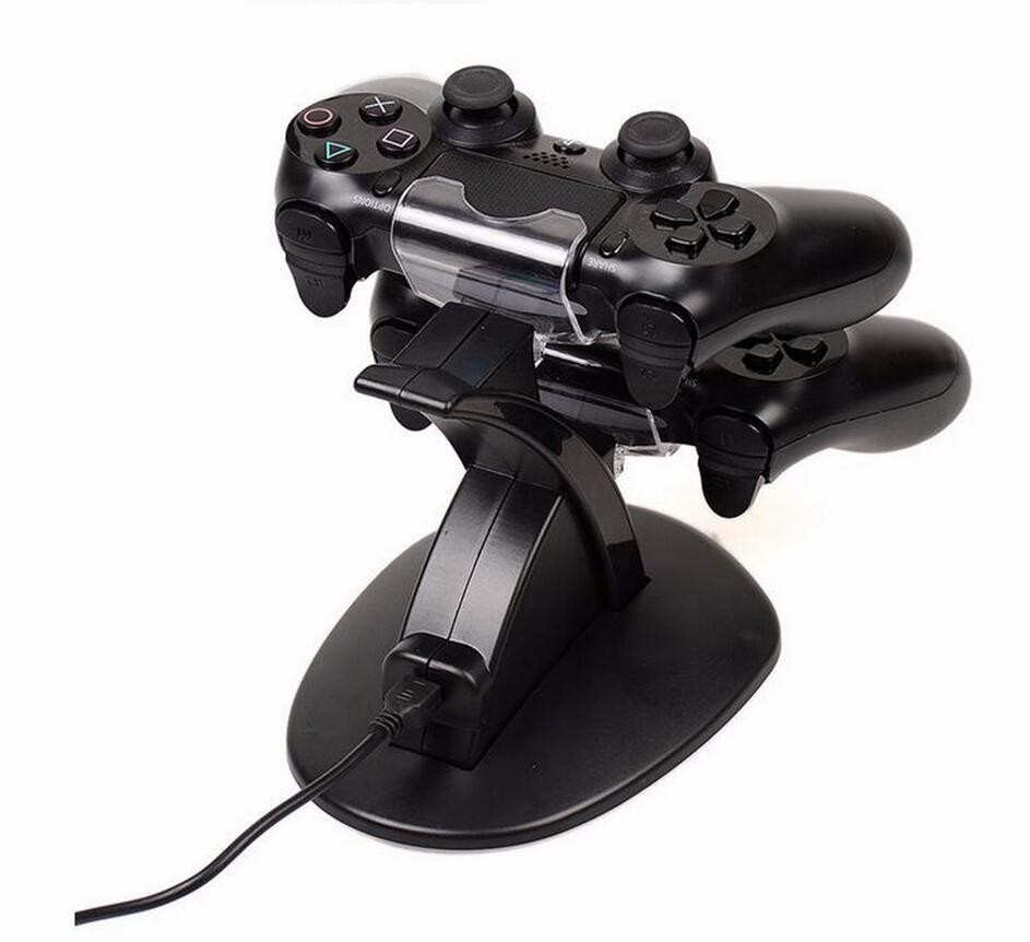 image for 2016 Newest DUAL USB Charging LED Controller Chargers For Play Station