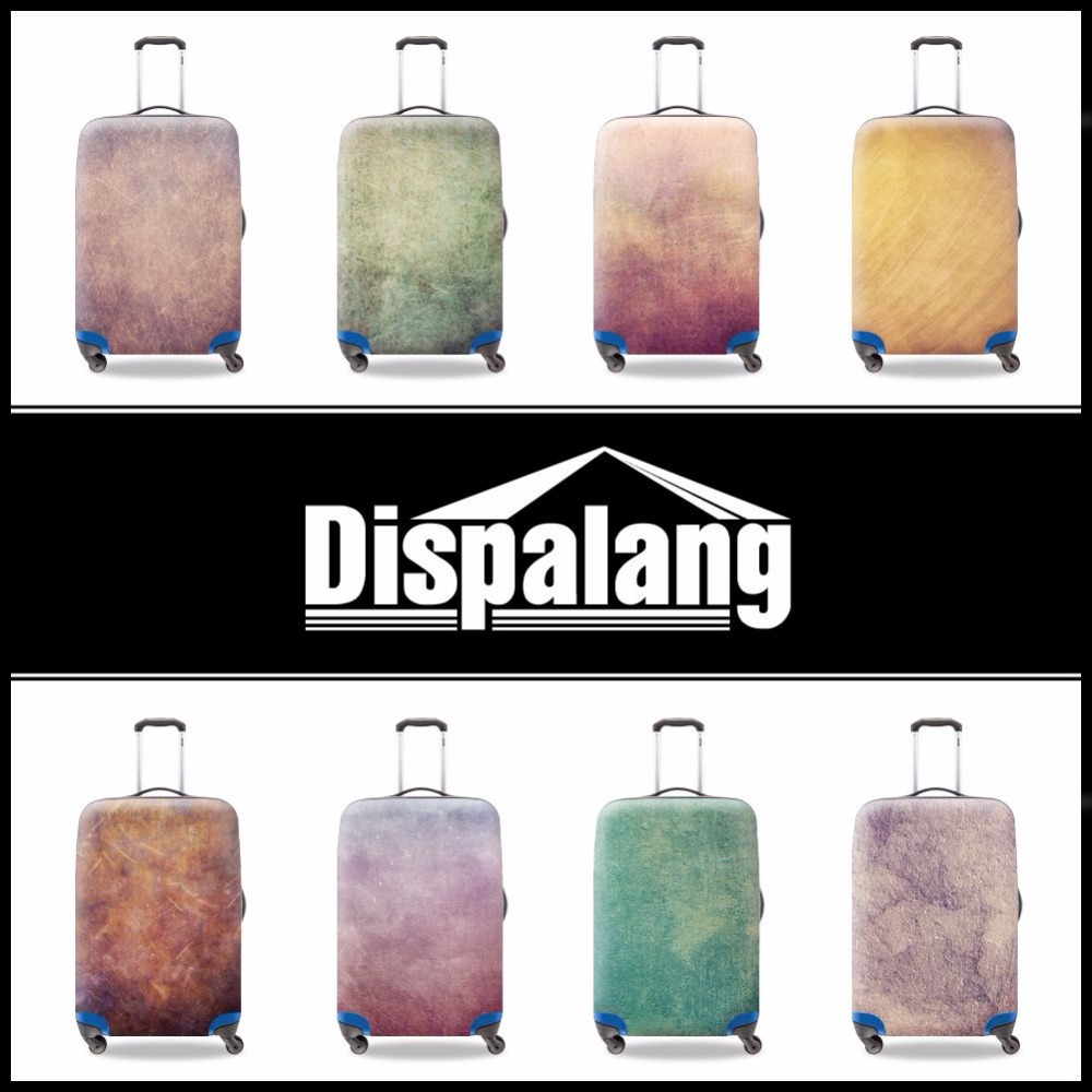 Durable elastic luggage protective covers retro style striped print waterproof baggage cover for 18-30 inch trolley suitcase(China (Mainland))