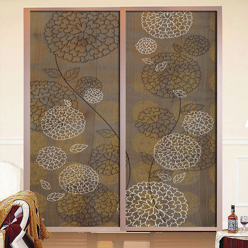 Popular sliding glass door covering buy cheap sliding - Stickers pour porte de placard coulissante ...