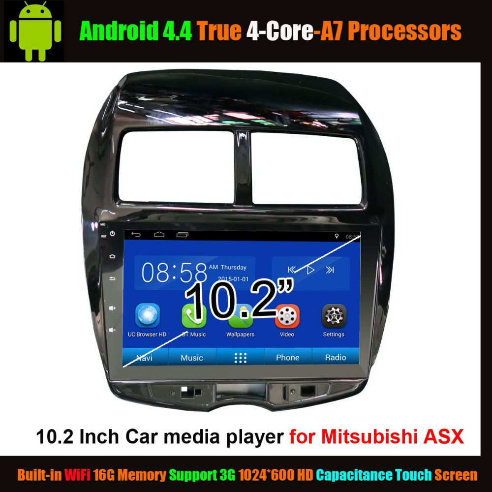 """10.2 """"Car Media Player for Mitsubishi ASX Android 4.4 True 4-Core ,WiFi Support 3G 1024*600 HD Capacitance Touch Screen(China (Mainland))"""