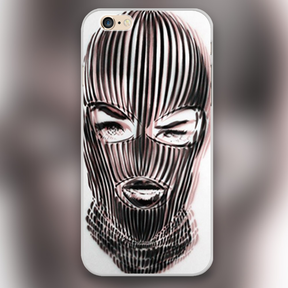 New arrived Badwood 3D Ski Mask Design white skin case cover cell phone cases for iphone 4 4s 5 5c 5s 6 6s 6plus(China (Mainland))