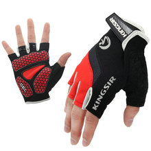 Buy 1 Pair Outdoor Sport Gloves Summer Cycling Bike Bicycle Riding Gym Fitness Half Finger Gloves Shockproof Mittens S/M/L/XL/XXL for $5.59 in AliExpress store