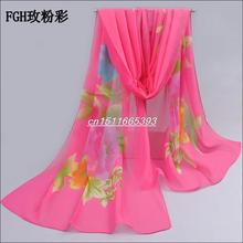 2016 fashion pashmina women scarf new design floral shawl Cape silk chiffon Tippet muffler hot sale Scarves free shipping(China (Mainland))