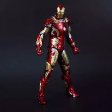 Free shipping The Avengers2 Iron Man Mark43 Action Figure Doll Ironman MK43 PVC ACGN figure Garage Kit Brinquedos Anime 180MM