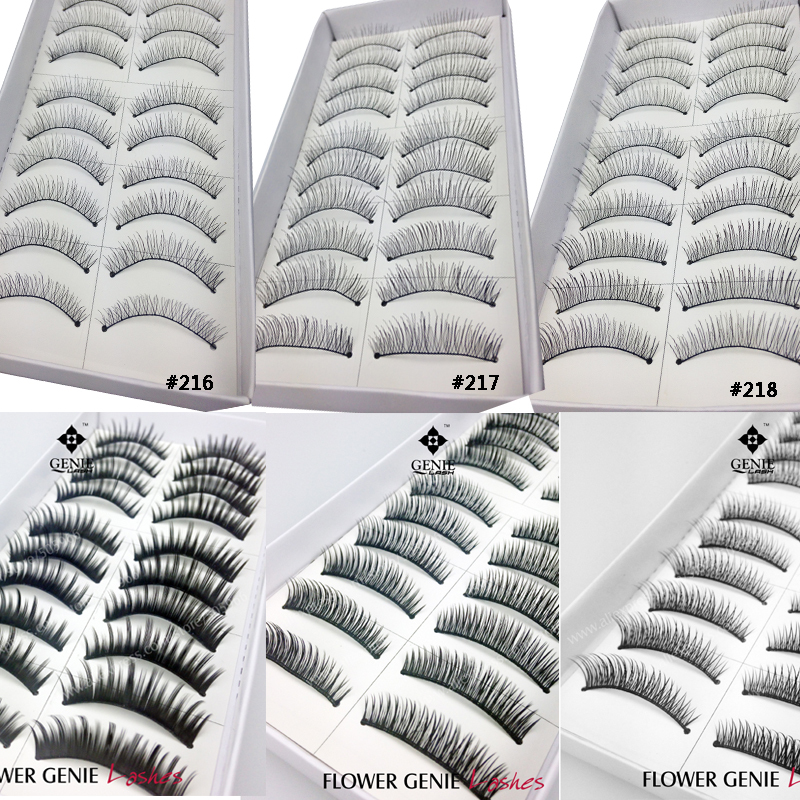 60 Pairs/Lot Mix 6 Styles Beautiful Black Strip False Eyelashes For Women's Make Up Tools Hot Selling 2014 Free Shipping(China (Mainland))