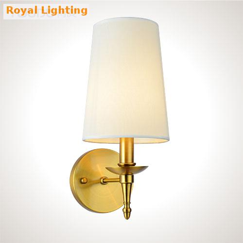 Free shipping Home decorative lighting modern Led Copper Wall Light Fixtures American rural ...