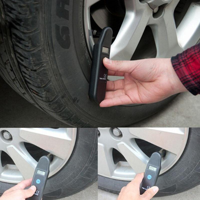 Sanwony New Hot Digital LCD Auto Motorcycle Tire Tyre Garage Air Pressure Gauge Freeshipping&Wholesales(China (Mainland))