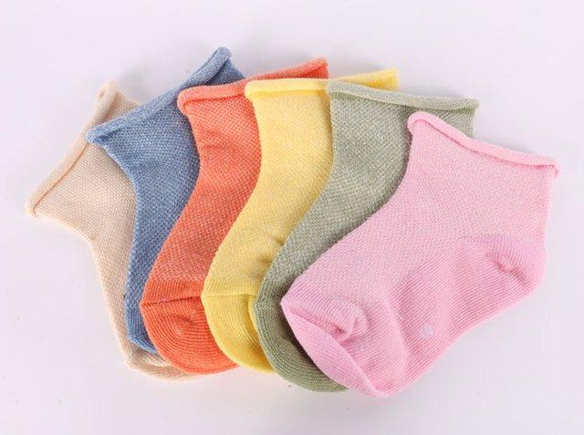 Весна лето конфеты цвета детей носок смягчиться сетки милый дышащий