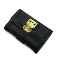 Designer Trendy New Ladies Tri fold Money Clip Occident Style Stone Print Retro Wallet Women Fashion