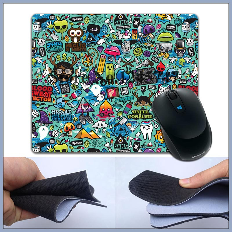 Free Hot Sell comics 2 Silicone slip mouse pad mouse pad optical mouse pad(China (Mainland))