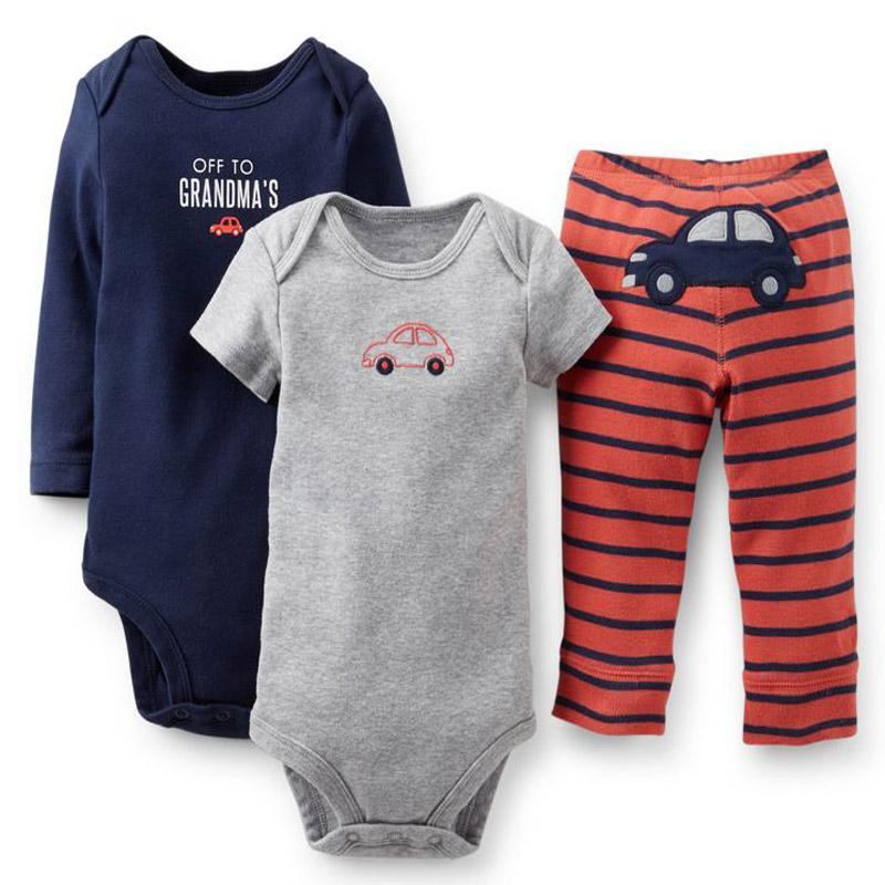 Retail 22 style Original Carters clothing set Baby Girls Boys 3 piece Bodysuit Pant Set Baby