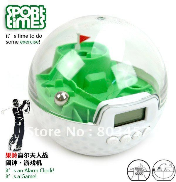 Sport times basketball VS Golf Alarm Clock. Amazing Unique Gift Toys!