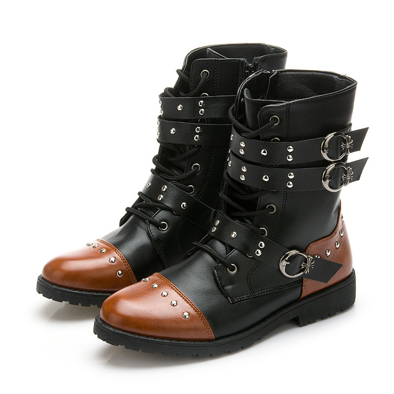 New Martin Boots Mid-Calf Hot-Selling Rivets Design Fashion Pointed Toe British Style High Quality Mens Studio Ink Boots XMX466<br><br>Aliexpress