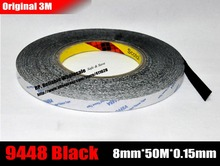 Buy 8mm Wide, 50Meters, 3M 9448AB Black Double Sided Adhesive Tape iPad Phone Tablet Huawei Touch Panel, Screen, LCD for $8.08 in AliExpress store