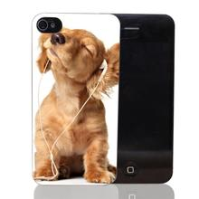 204-HOP dogs headphones Style Transparent Case Cover for iPhone 4 4s 5 5s 5c 6 6s plus