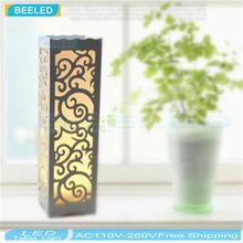 Petite Table lampe LED bois plastique Style rustique salon chambre Decor éclairage moderne abat - jour E14 E27 LED tous les plug 110 - 240 V(China (Mainland))