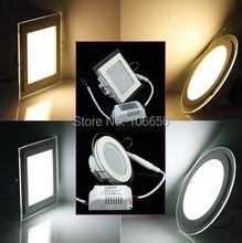 SMD5730 Glass edged 6w 12w 15w waterproof round square led downlight(China (Mainland))