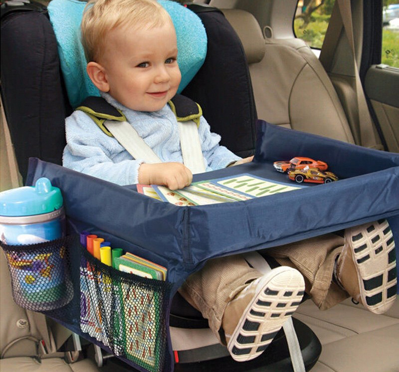 baby Toddlers Car Safety Belt Travel Play Tray waterproof folding table Baby Car Seat Cover Harness Buggy Pushchair Snack(China (Mainland))